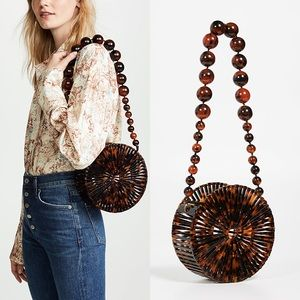 New Cult Gaia Luna Tortoise Acrylic Bag